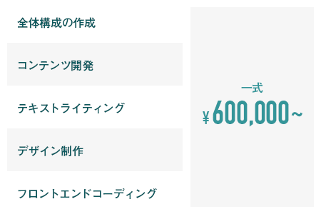 一式 ¥600,000~