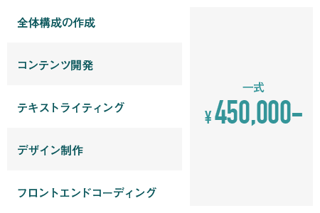 一式 ¥450,000~