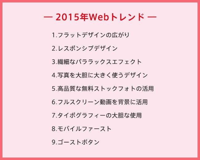 2015年Webトレンド