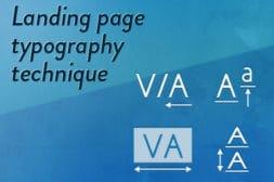 ランディングページのデザインの見た目に差をつける文字要素の取り扱い