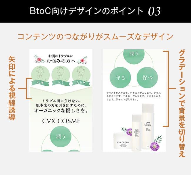 BtoC向けランディングページデザインのポイント03