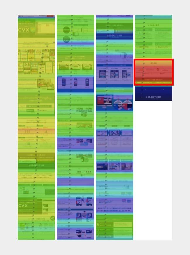 Ptengineヒートマップの出力イメージ